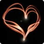 heart in lights