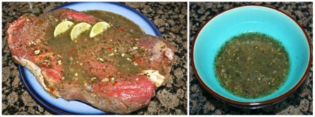 Cilantro-Lime Marinaded Flank Steak