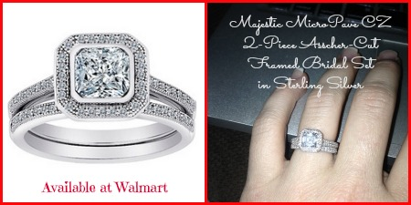 walmart cz bridal set in sterling silver - Walmart Wedding Ring Sets