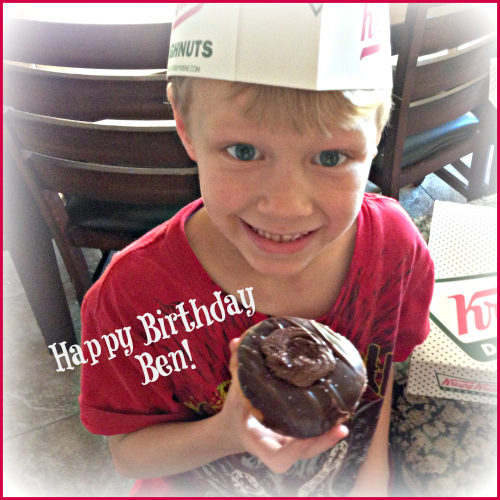 happy birthday from Krispy Kreme