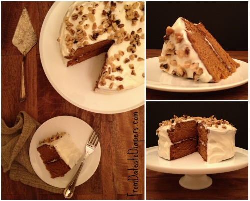 My Favorite Fall Treat – Pumpkin Cake with Cream Cheese Frosting