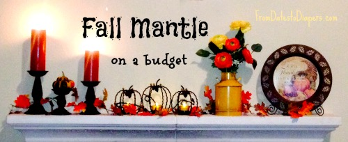 fall mantle decor on a budget
