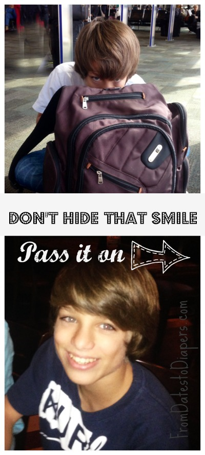 don't hide that smile, pass it on