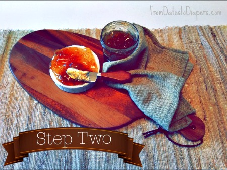 Easy Brie & Fig App step 2