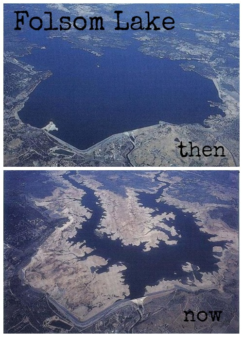 Folsom Lake - then and now
