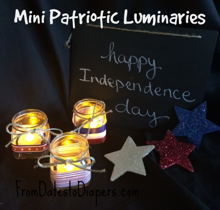 Make Mini Patriotic Luminaries {It's not too late!}