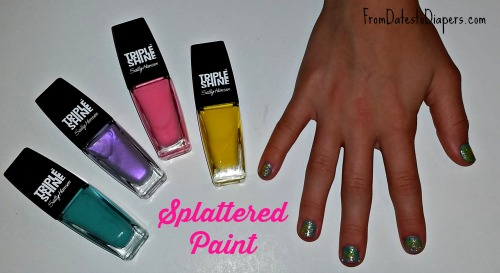 Splattered Paint nail art