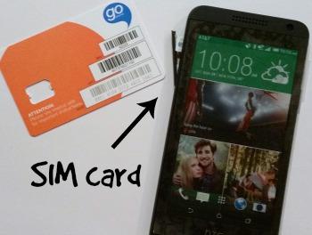 HTC Desire SIM card