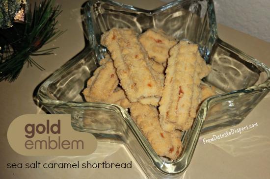 Gold Emblem sea salt caramel shortbread
