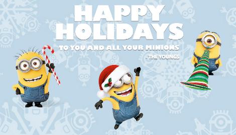 Happy Holidays Fandango Family Minions Card From Dates